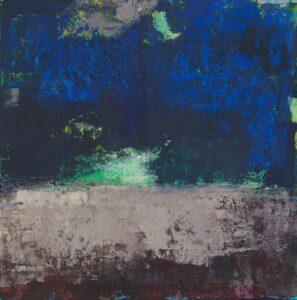 Schw.Sommerabend(5),Mischt.Papier25x25cm,2015