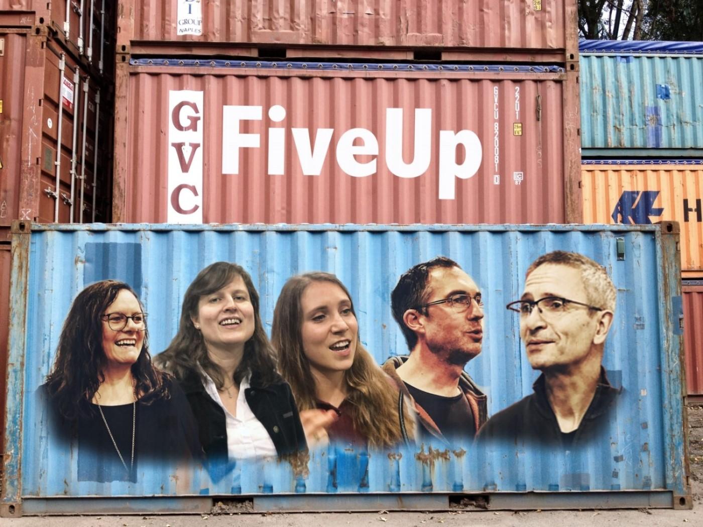 """Treffpunkt Kulturstellmacherei - Bühne Frei - mit A-cappella Quintett """"FiveUp"""""""